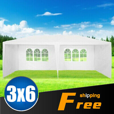 Wide 3 X 6M WHITE GAZEBO MARQUEE PARTY TENT OUTDOOR GARDEN CANOPY WEDDING AWNING