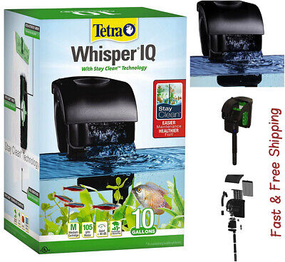 Tetra Whisper IQ Power Filter for 10 Gal Aquariums| With Quiet Technology