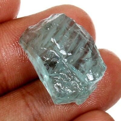 Natural AQUAMARINE Rough 21x14 mm Fancy Gemstone 28 Cts For Jewellery S-36966
