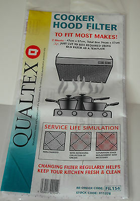 Universal Cooker Hood Extractor Grease Filter With Saturation Indicator 2 Pack