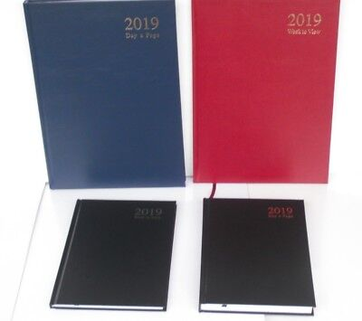 2019 A5 or A4  DAY A PAGE OR WEEK TO VIEW, HARDBACK & CASE BOUND DIARY & PLANNER