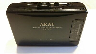 AKAI PM-R23 FM/AM Radio Portable Cassette Player, WALKMAN, Tested and Working