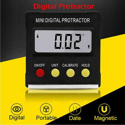 US LCD Digital Inclinometer Protractor Gauge Bevel Angle Finder Magnet Base Chic