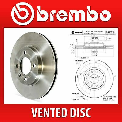 Brembo Pair Vented Brake Discs 09.B272.10