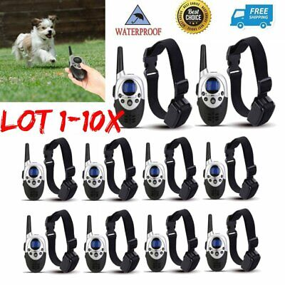 Waterproof 1000Yard Dog Shock Training Collar Pet Dog Trainer With Remote LOT TN