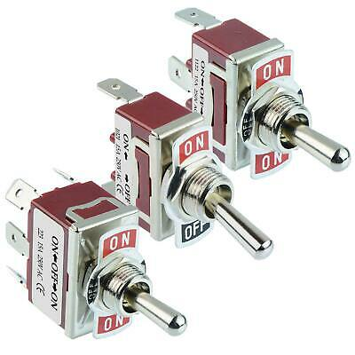 3 in 1 Toggle Flick Switch 15A 250VAC Single or Double Pole-SPST DPDT SPDT