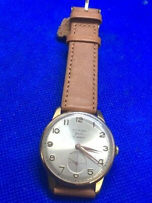 Rare vintage 1950s  Strad Geneve 17 jewel Swiss Made Mechanical Wristwatch cal A