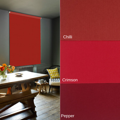Red Blackout Roller Blinds - Made To Measure - Extra Wide Widths