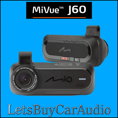 Mio Mivue J60 1080P Dashcam, Gps, Speed Camera, G Sensor, Wifi, Voice Guidance