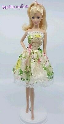 New Barbie doll clothes outfit summer party floral pretty dress cute short