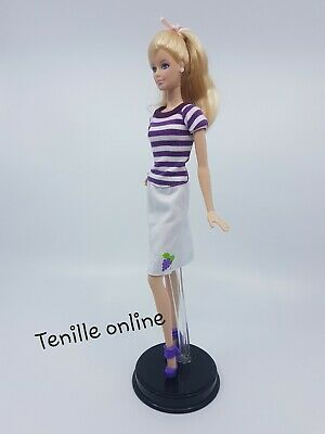 New Barbie doll clothes outfit summer party stripe buisness pretty dress short