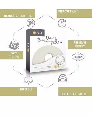 Baby Pillow, For Preventing Flat Head Syndrome (Plagiocephaly),Memory Foam