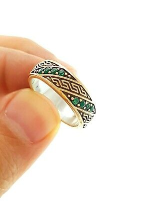 Sterling 925 Silver Size 9 Antique Victorian Band Ring Handmade Jewelry Dr1100