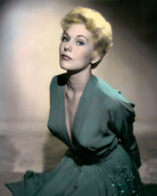 """KIM NOVAK BELL BOOK and CANDLE 1958 FILM ACTRESS 8x10"""" HAND COLOR TINTED PHOTO"""