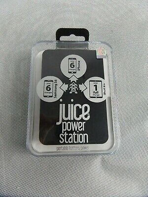 Juice Power Station 11,200mAh Portable Battery Emergency Charger Black New