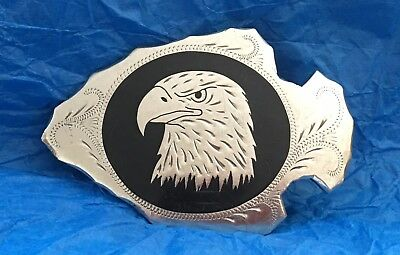 VTG Johnson & Held 100% American Handcrafted ARROWHEAD EAGLE Western BELT BUCKLE