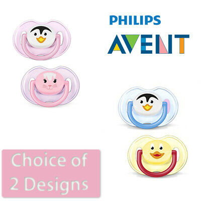 Philips Avent Animal Soother Twin Pack - Age 0-6m CHOICE OF DESIGN  (A73)
