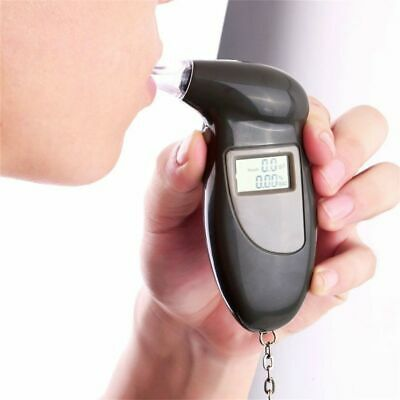 LCD Display Digital Alcohol Tester Professional Police Alert Breath Alcohol Test