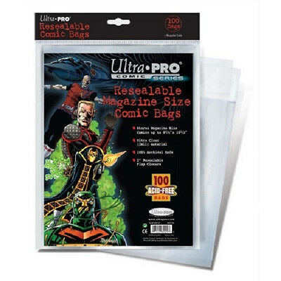 200 Ultra Pro Magazine Resealable Storage Bags and  Boards New Factory Sealed