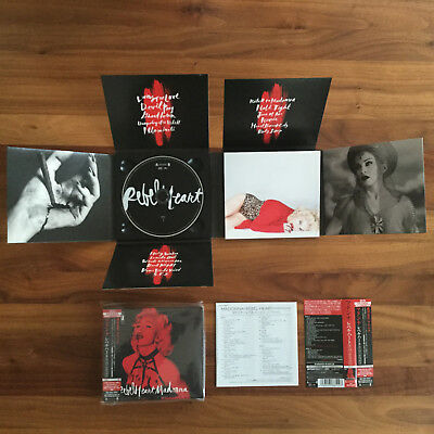 NEW! JAPAN BONUS TRACK! MADONNA REBEL HEART SUPER DELUXE LTD ED 2CD // madame x