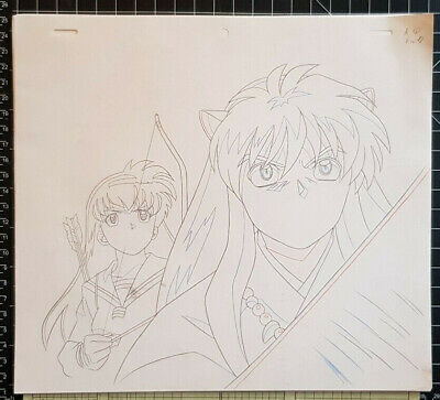 Lot Dessins Originaux Cel INUYASHA & Kagome Rumiko Takahashi 2000 Cellulo Anime