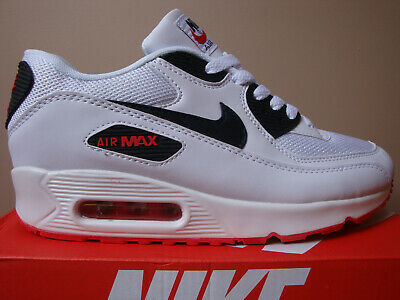 Details about MENS NIKE AIR MAX 90 WHITE BLACK RED TRAINER NEW BOXED SIZES UK 6 11 AVAILABLE