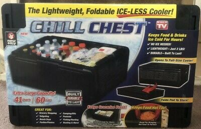 Chill Chest, Lightweight and Foldable Ice-Less Cooler 60 Cans As Seen On TV