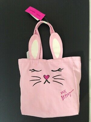 Betsy Johnson Pink Bunny w Puffy Tail Tote New w Tags