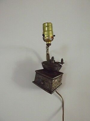 VINTAGE coffee grinder wall sconce light lamp metal not working