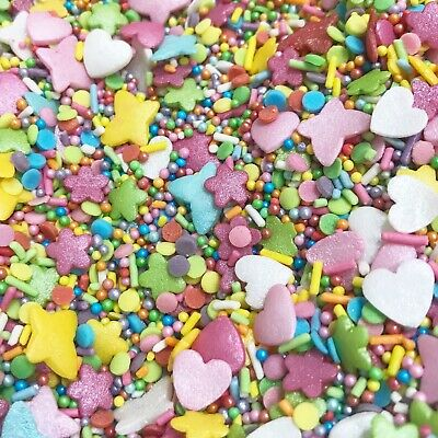 Fiesta Forever Rainbow Sprinkles Cake and Cupcake sprinkles Edible Cake Toppers