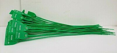 PK/50 Tydenbrooks Adjustable Length Seals, High Density Polyethylene, Green, 18""