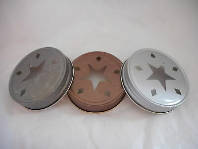Star Mason Regular Lid Candle Topper - Bronze, Pewter or Silver Color Choice!