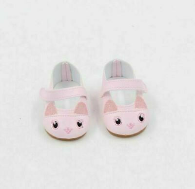 Pink Kitten Doll Shoes Fits 18 Inch American Girl Doll Clothes