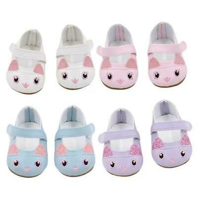 Set Of 4 Kitten Doll Shoes Fits 18 Inch American Girl Doll Clothes