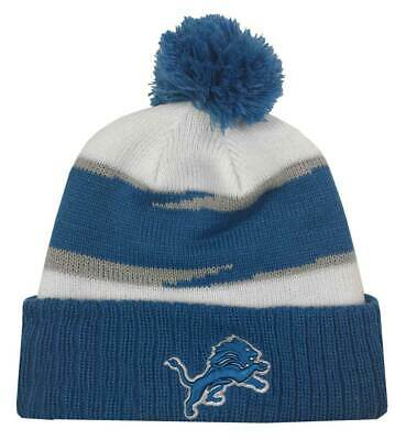 brand new 148dd eb182 New Era 2018 NFL Detroit Lions Thanksgiving Stocking Knit Hat Beanie Winter  POM