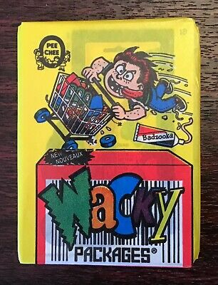 O Pee Chee 1992 Series Wacky Packages Unopened Wax Pack