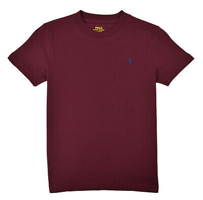 Polo Ralph Lauren Boys Toddlers Wine Red Cotton Crew Neck Tee Shirt Sz 2T 9515-3