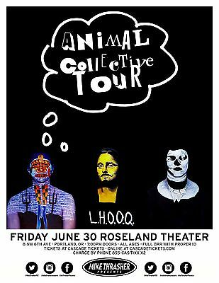 ANIMAL COLLECTIVE 2017 Gig POSTER Portland Oregon Concert