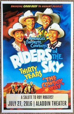 RIDERS IN THE SKY 2016 Gig POSTER Portland Oregon ROY ROGERS Tour Concert