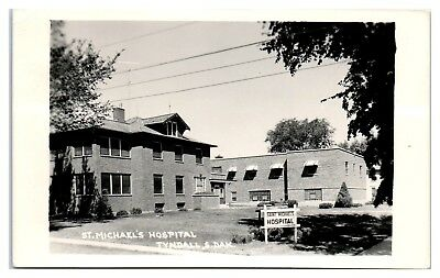 1965 RPPC St. Michael's Hospital, Tyndall, SD Real Photo Postcard