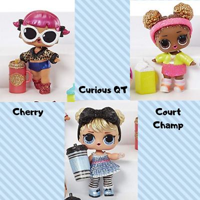 LOL Surprise Glam Glitter lot of 3: Curious QT Cherry Court Champ
