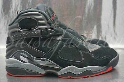 cheap for discount ad16c be191 Nike Air Jordan 8 Retro Black Gym Red Wolf Grey 305381 022 Mens Size 11