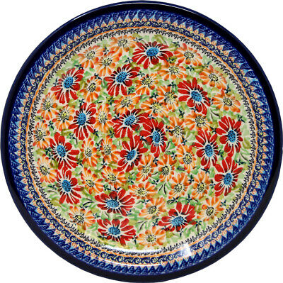 "Polish Pottery Dinner Plate 11"" from Zaklady Boleslawiec Polish 1014-312ar"