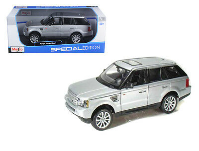 Range Rover Sport Silver 1/18 Scale Diecast Model By Maisto 31135