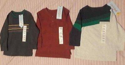 Cat & Jack 12 Month Boy Long Sleeved Lot of 3 Shirts