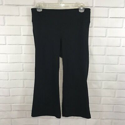 3a735b67e7a776 Gap Body Womens Capri Yoga Pants Elastic Waistband Stretch Black Size Medium