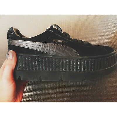 663f0c59c8e FENTY PUMA BY Rihanna Black Suede Cleated Creepers Trainers Size 4 ...