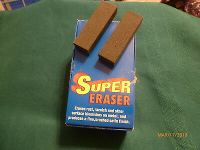 Super Rust Eraser - Cleans Rust, Tarnish and Blemishes on Blades - 2-Pack