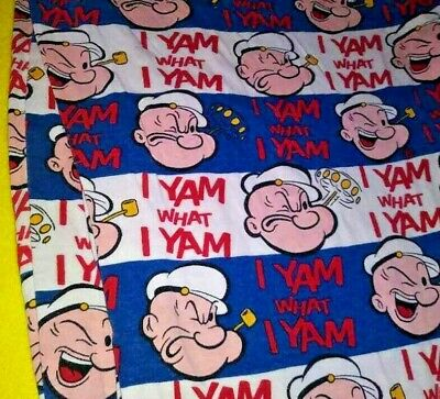 """POPEYE the Sailor  Pressed Metal Sign /""""I Yam What I Yam/""""Comic Character"""