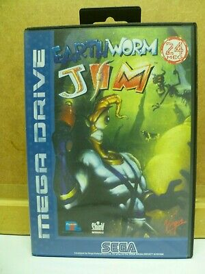 Earthworm Jim Case and Manual Only Megadrive